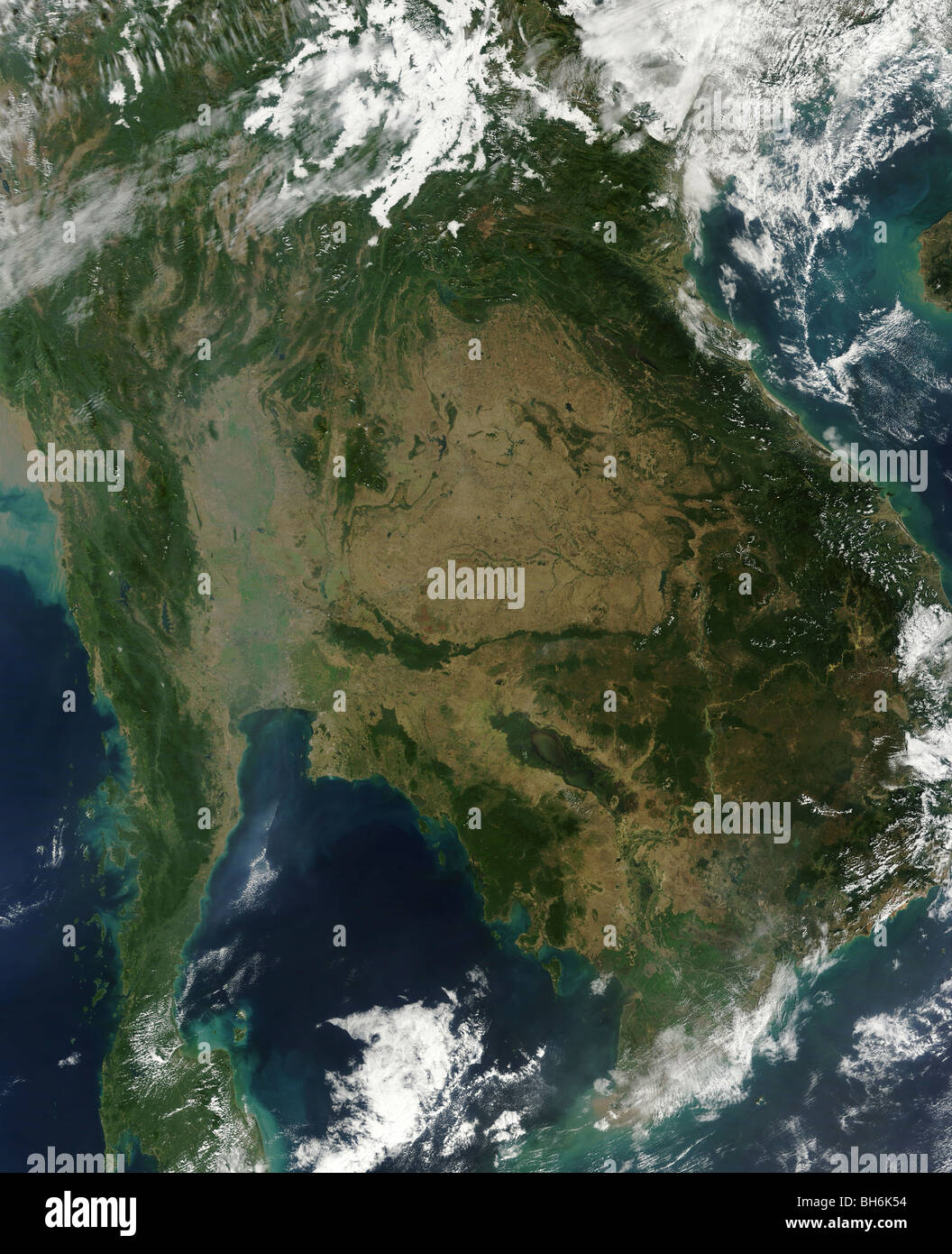 December 24, 2009 - Satellite view of Indochina. - Stock Image