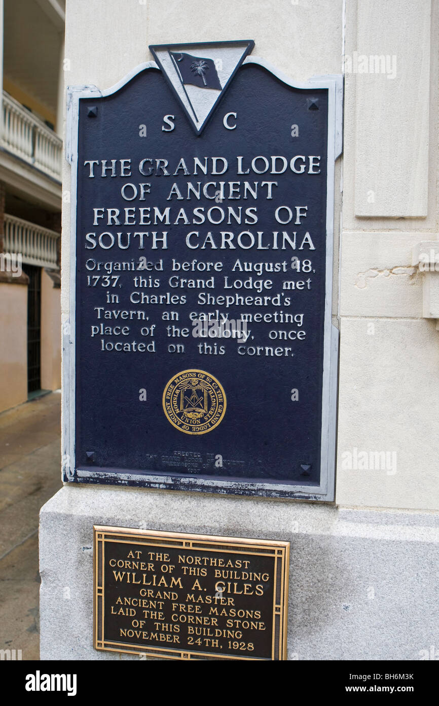 THE GRAND LODGE OF ANCIENT FREEMASONS OF SOUTH CAROLINA