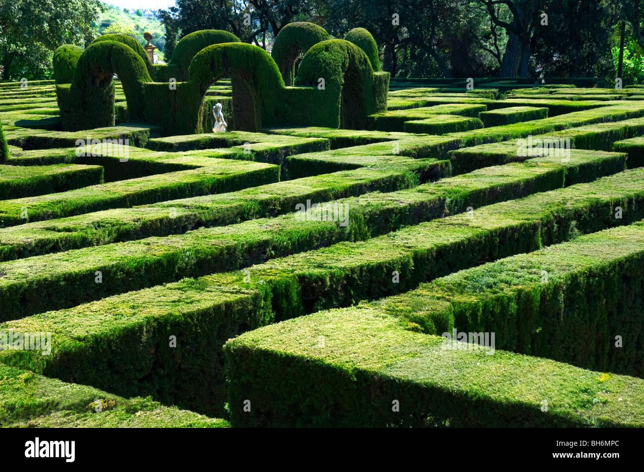 Parc del Laberint d' Horta . Barcelona.Catalonia.Spain. - Stock Image
