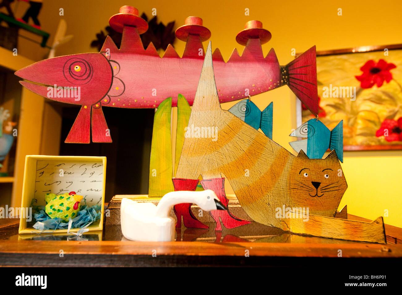 Nova Scotia, Annapolis Royal, Shopping, Catfish Moon Crafts & Pottery. - Stock Image