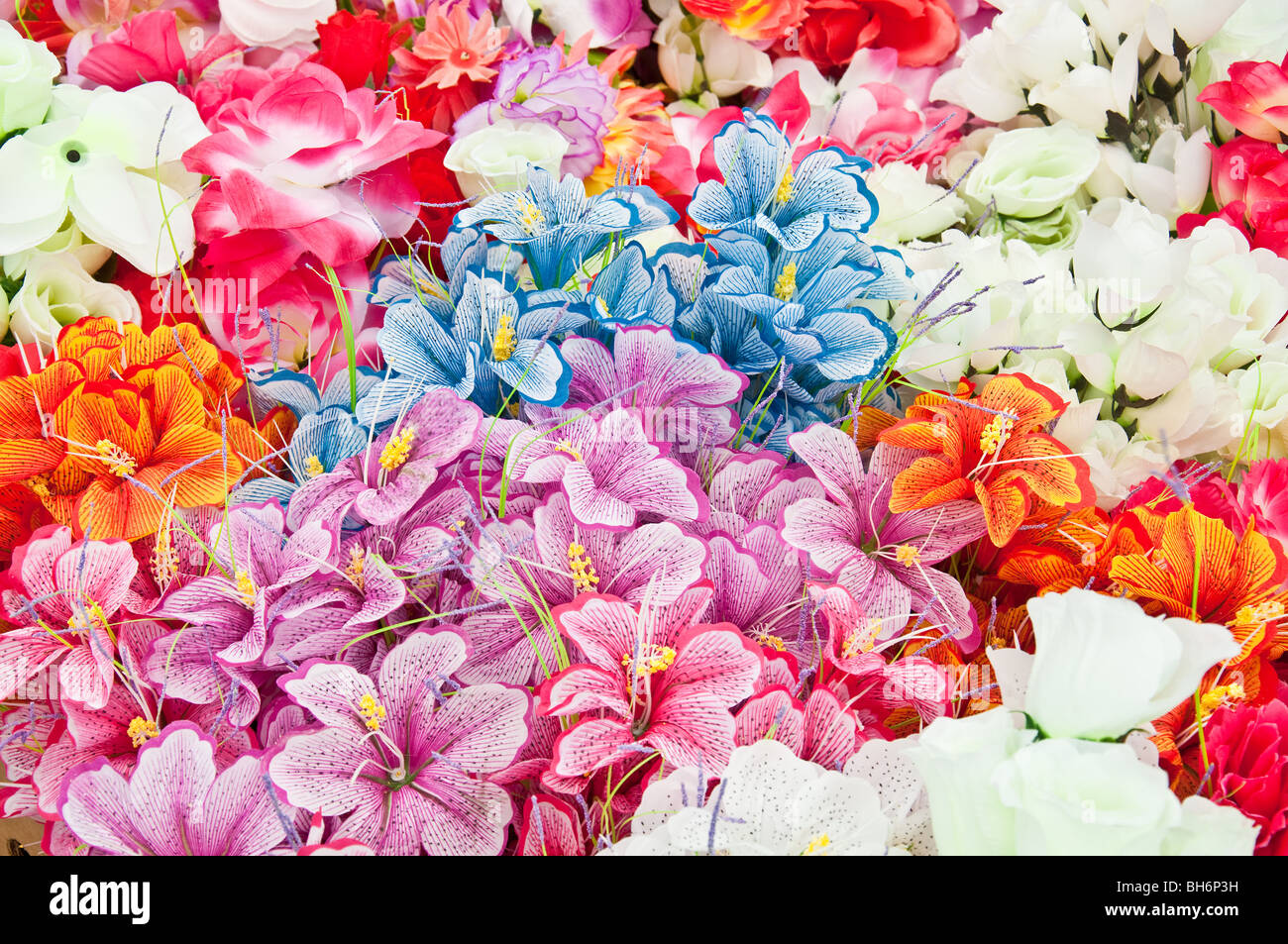 Cheap flowers stock photos cheap flowers stock images alamy various brightly colored artificial flowers for sale at flee market stock image izmirmasajfo