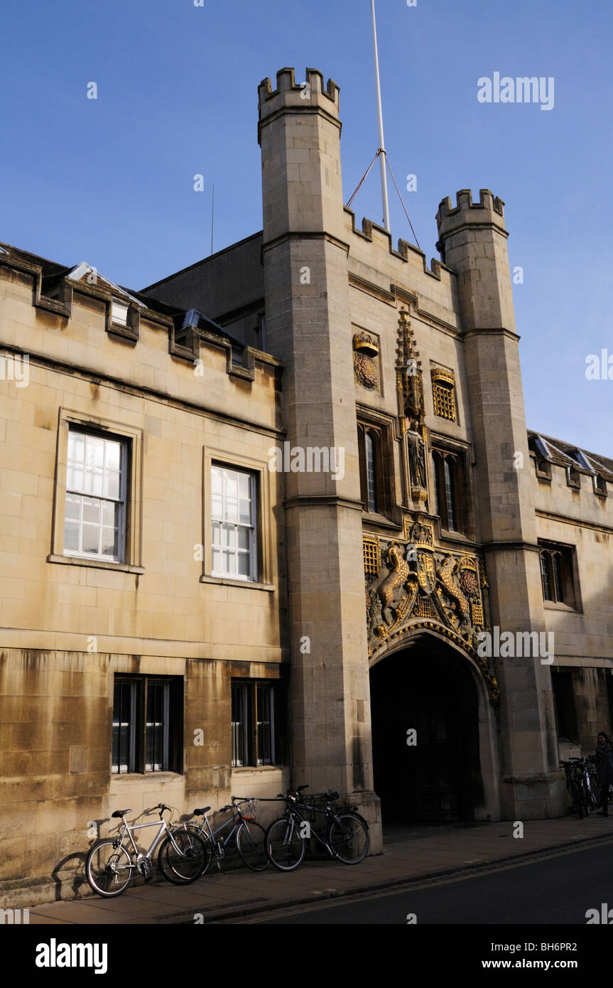 England; Cambridge; Christs College Gatehouse - Stock Image