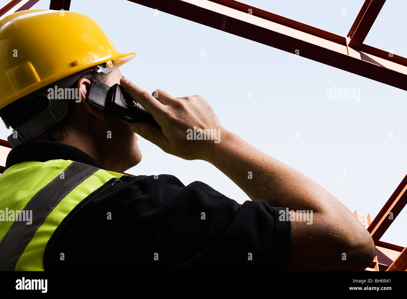 On site communication - Stock Image