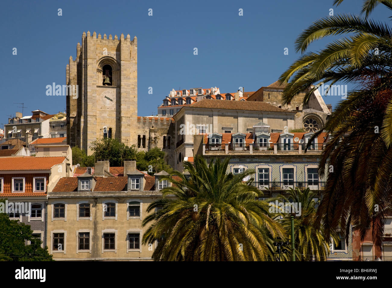Se Catherdral, Baxia District, Lisbon, Portugal, Europe - Stock Image