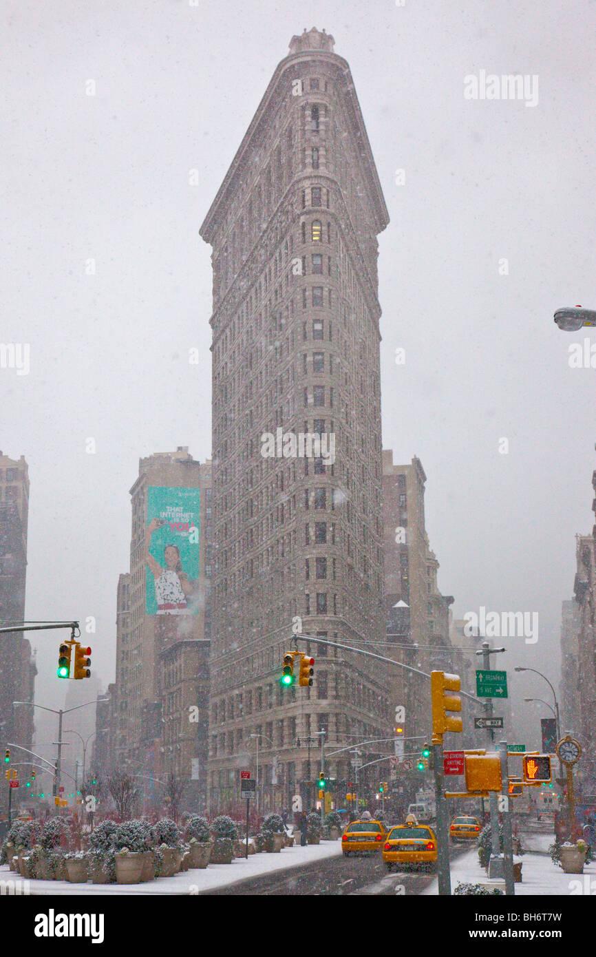 Flatiron Building in Manhattan, New York City - Stock Image