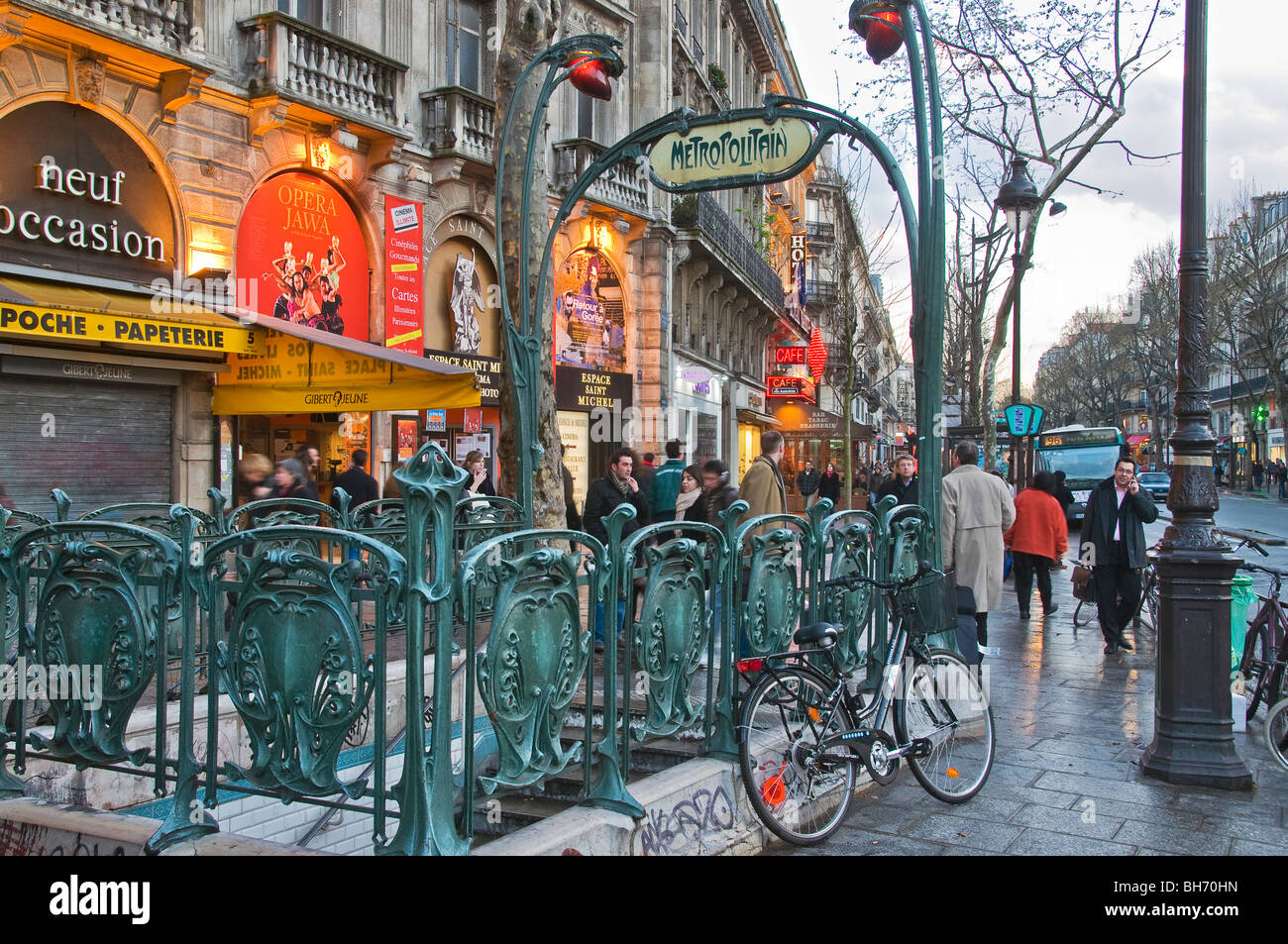Quartier Latin Paris France - Stock Image