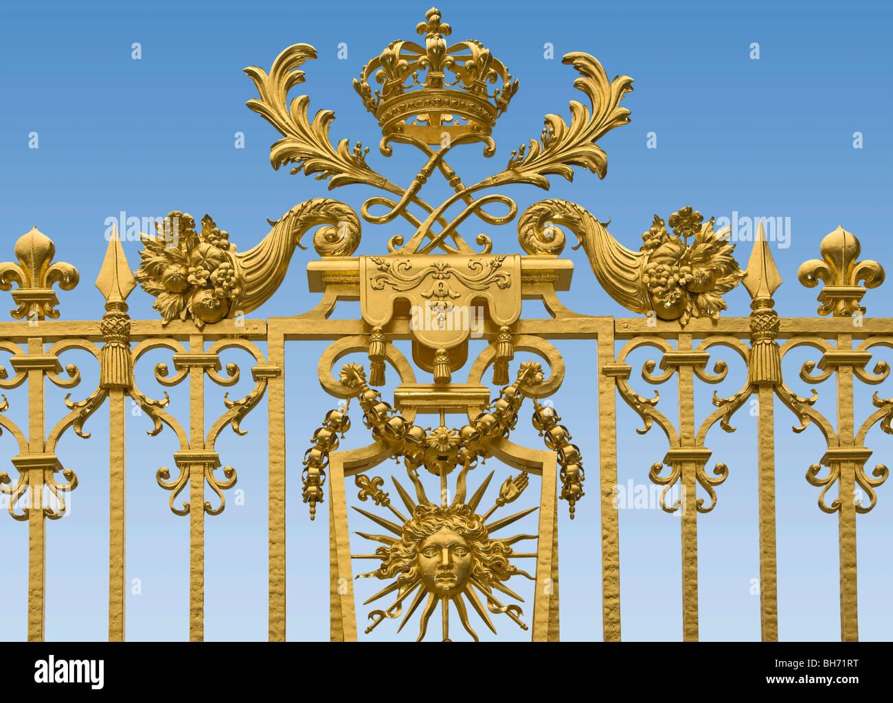 Versailles Roi soleil Symbol Paris France - Stock Image