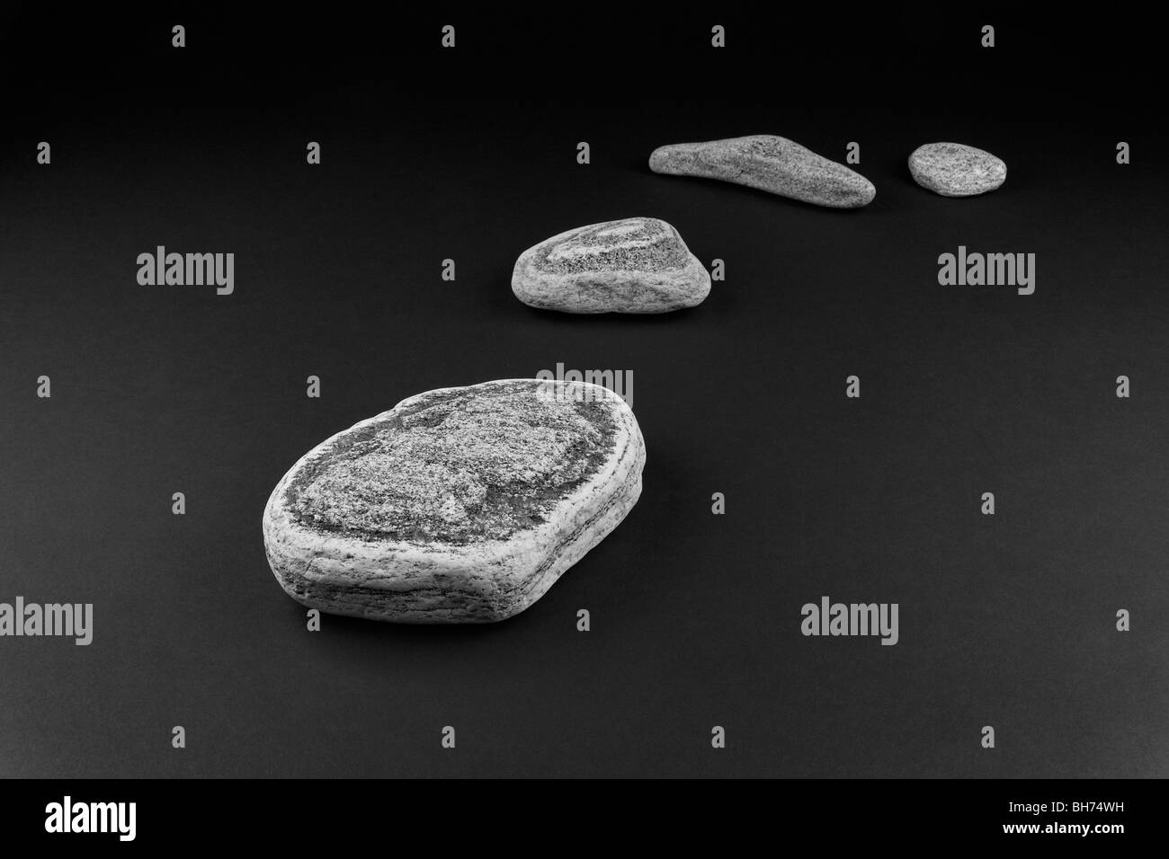 zen spirit inspired stone arrangement - Stock Image