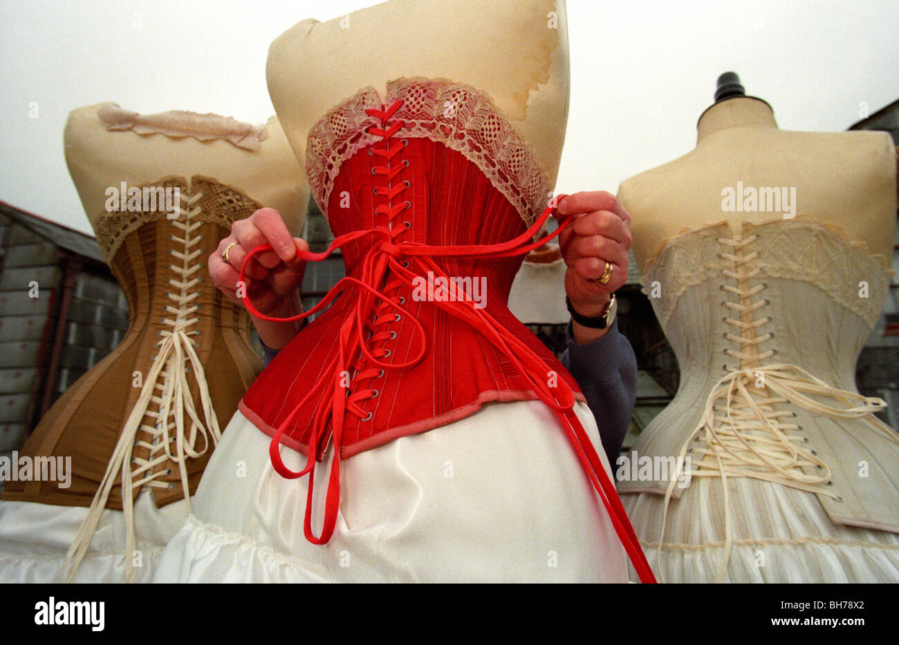 2c11bed41b5 Ian Voller owner of Voller Corsets in Portsmouth the oldest corset makers  in the UK with