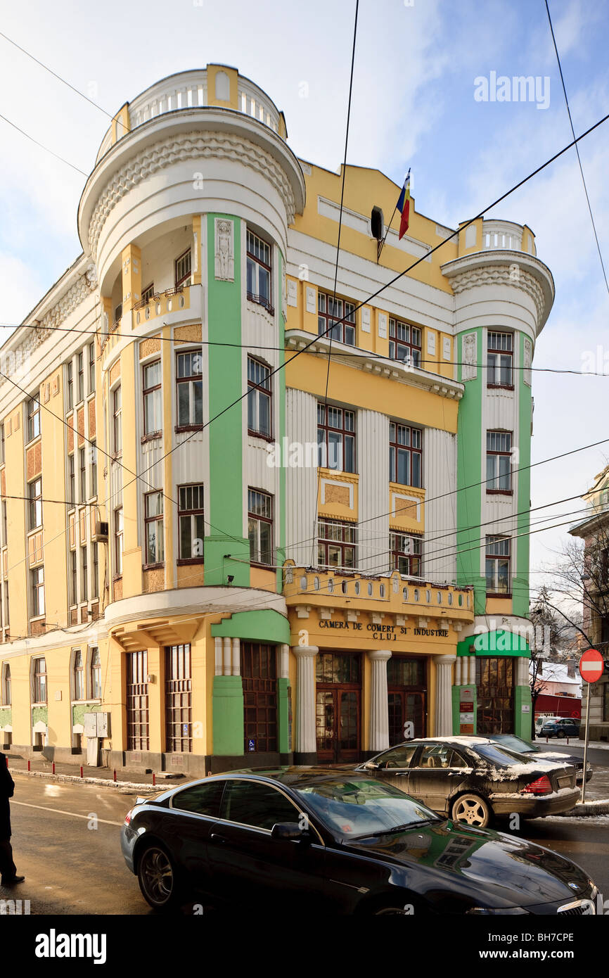 Chamber of Commerce (former Astoria Hotel) in  Cluj-Napoca Romania - Stock Image