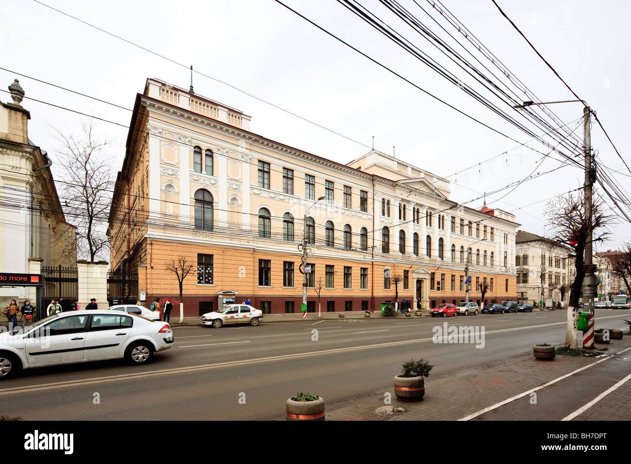 Hungarian minority 'Brassai Samuel' high school in Cluj-Napoca Romania - Stock Image