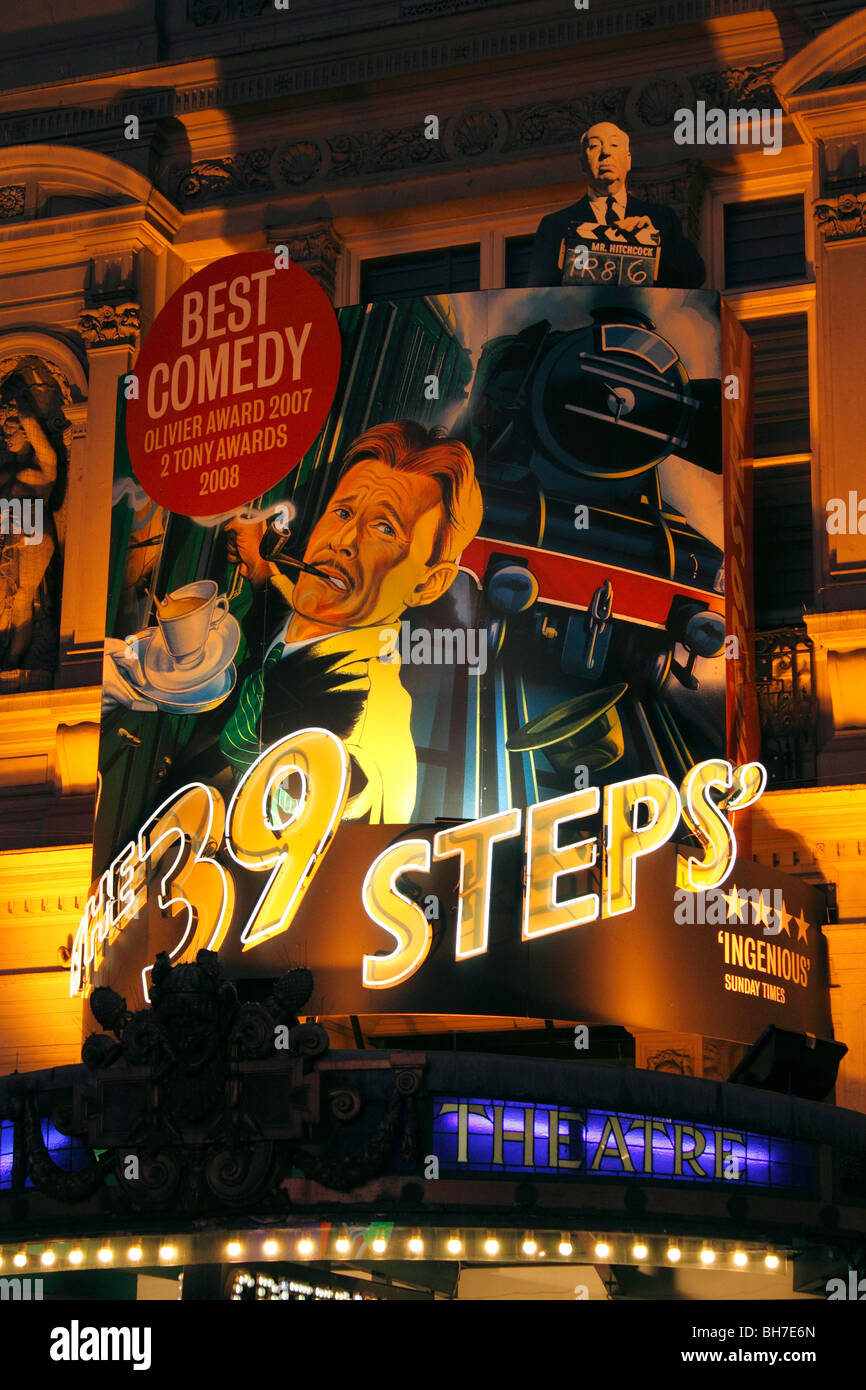 The 39 Steps at the Criterion Theatre in Piccadilly London December 2009 - Stock Image