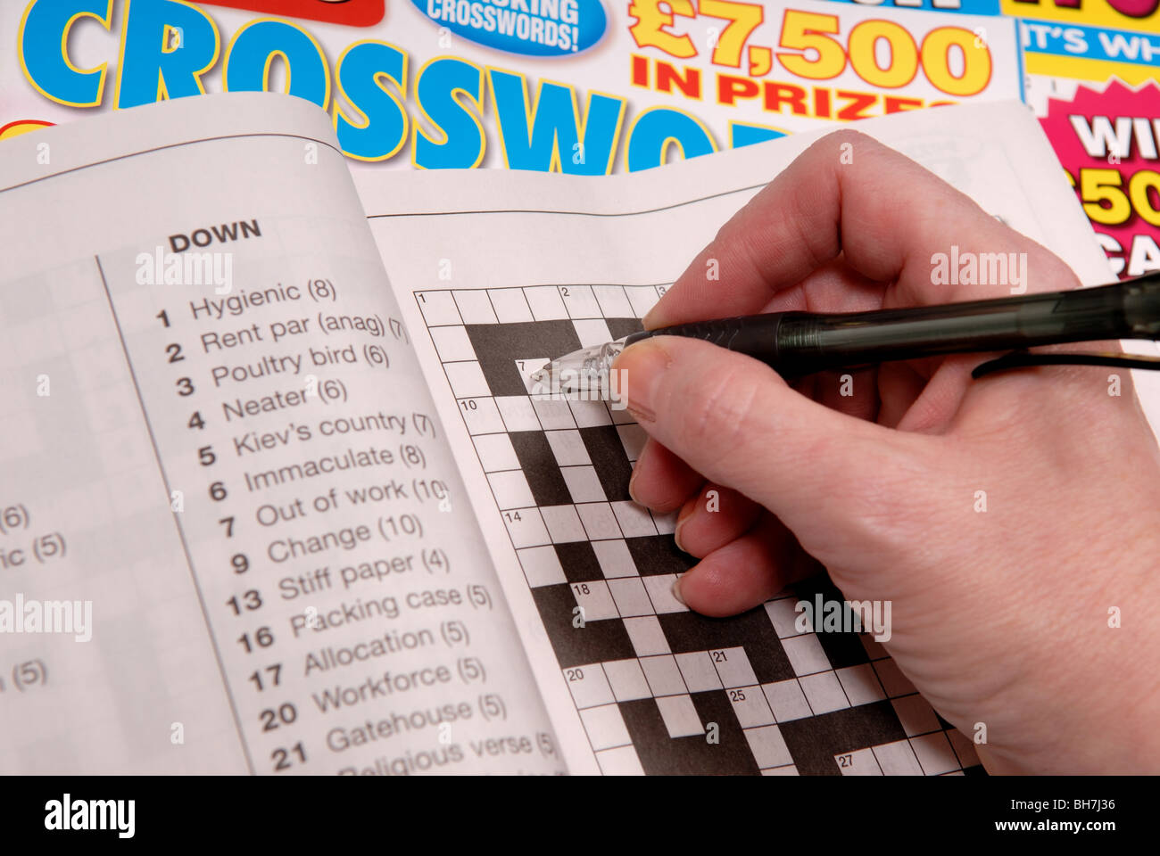 Crossword Puzzle Book.   Stock Image