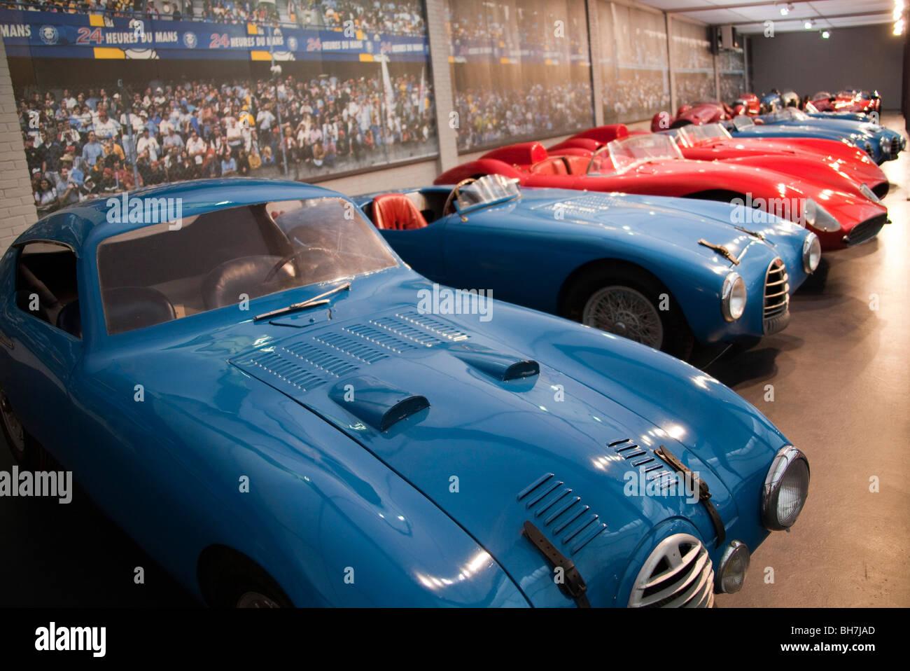 Alpha romeo racing cars on circuit at Schlumpfs motor Museum Mulhouse France  Horizontal 0993313_Schlumpf Museum -