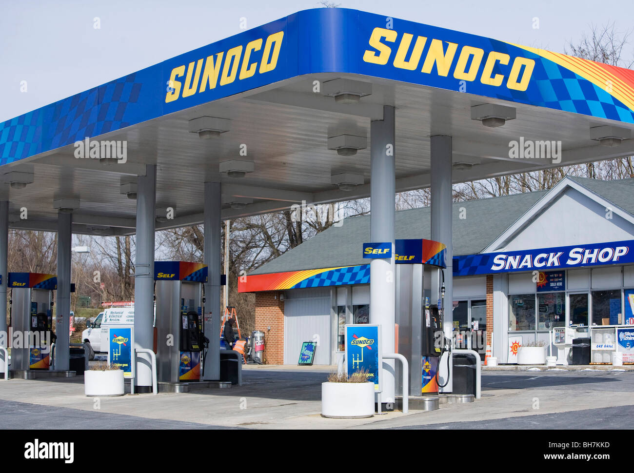 Sunoco Gas Station Near Me >> A Sunoco Gas Station In Suburban Maryland Stock Photo 27828625 Alamy