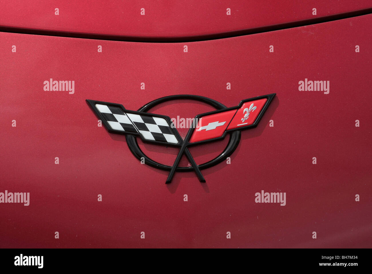 Chevrolet Corvette Logo Stock Photo
