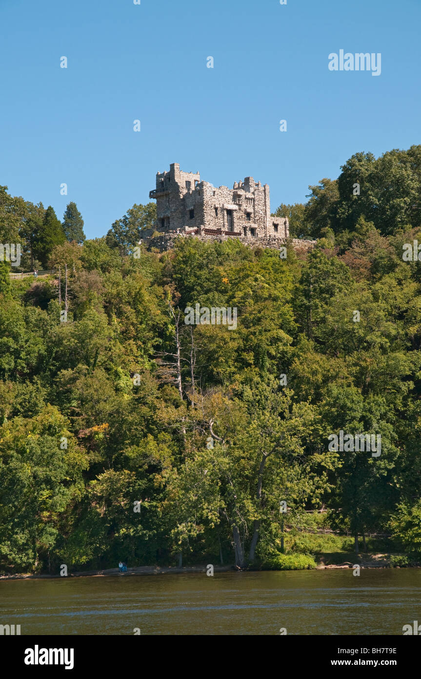 Connecticut East Haddam Gillette Castle State Park overlooking Connecticut River - Stock Image