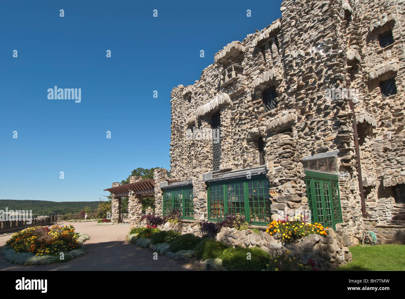 Connecticut East Haddam Gillette Castle State Park former estate of noted actor, director, playwright William Hooker - Stock Image