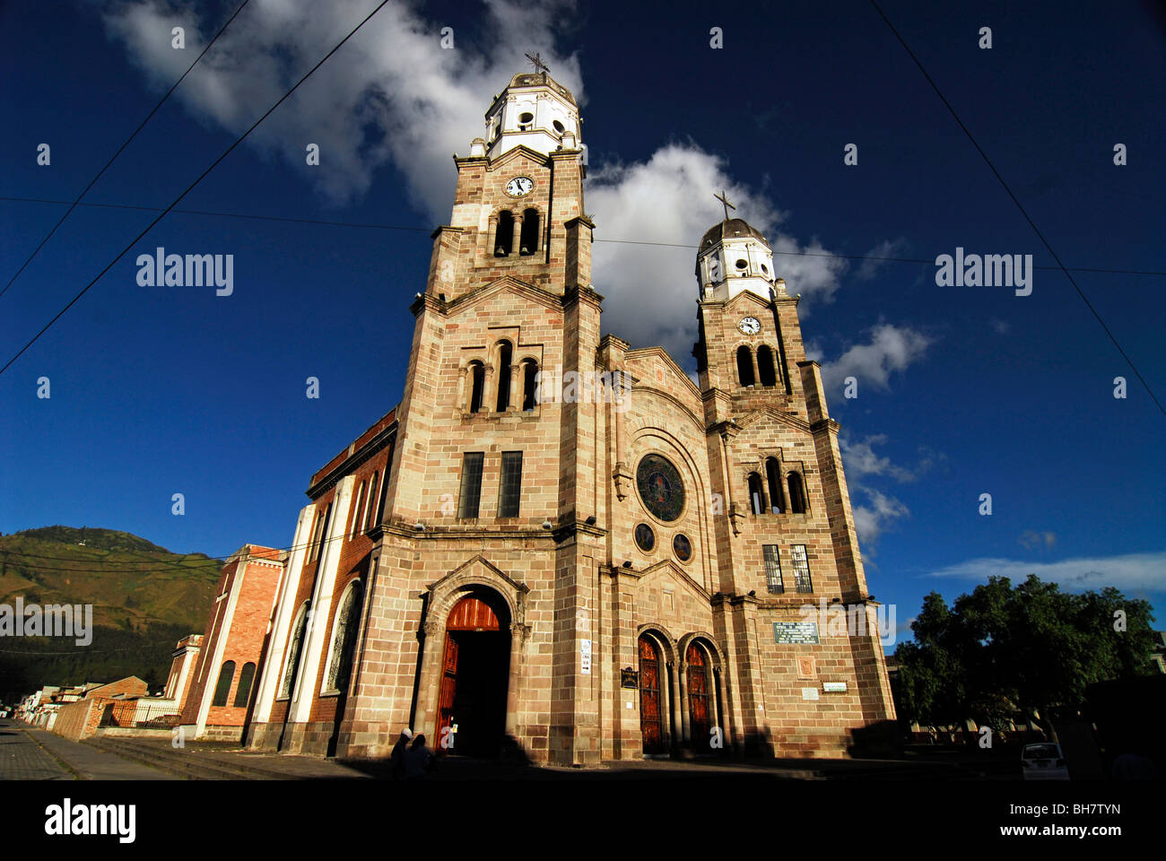 Ecuador, Ibarra, Santo Domingo Church, from the Roman Catholic Diocese, in the center of Ibarra - Stock Image