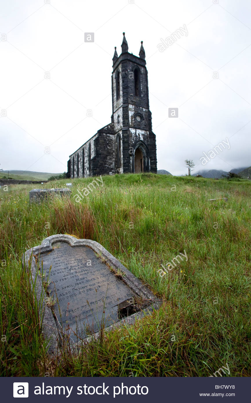 Dunlewey Church of Ireland, Donegal County, Ireland - Stock Image