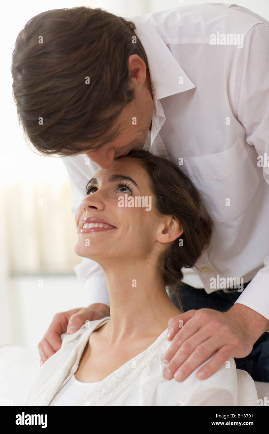 woman full of love for her lover - Stock Image