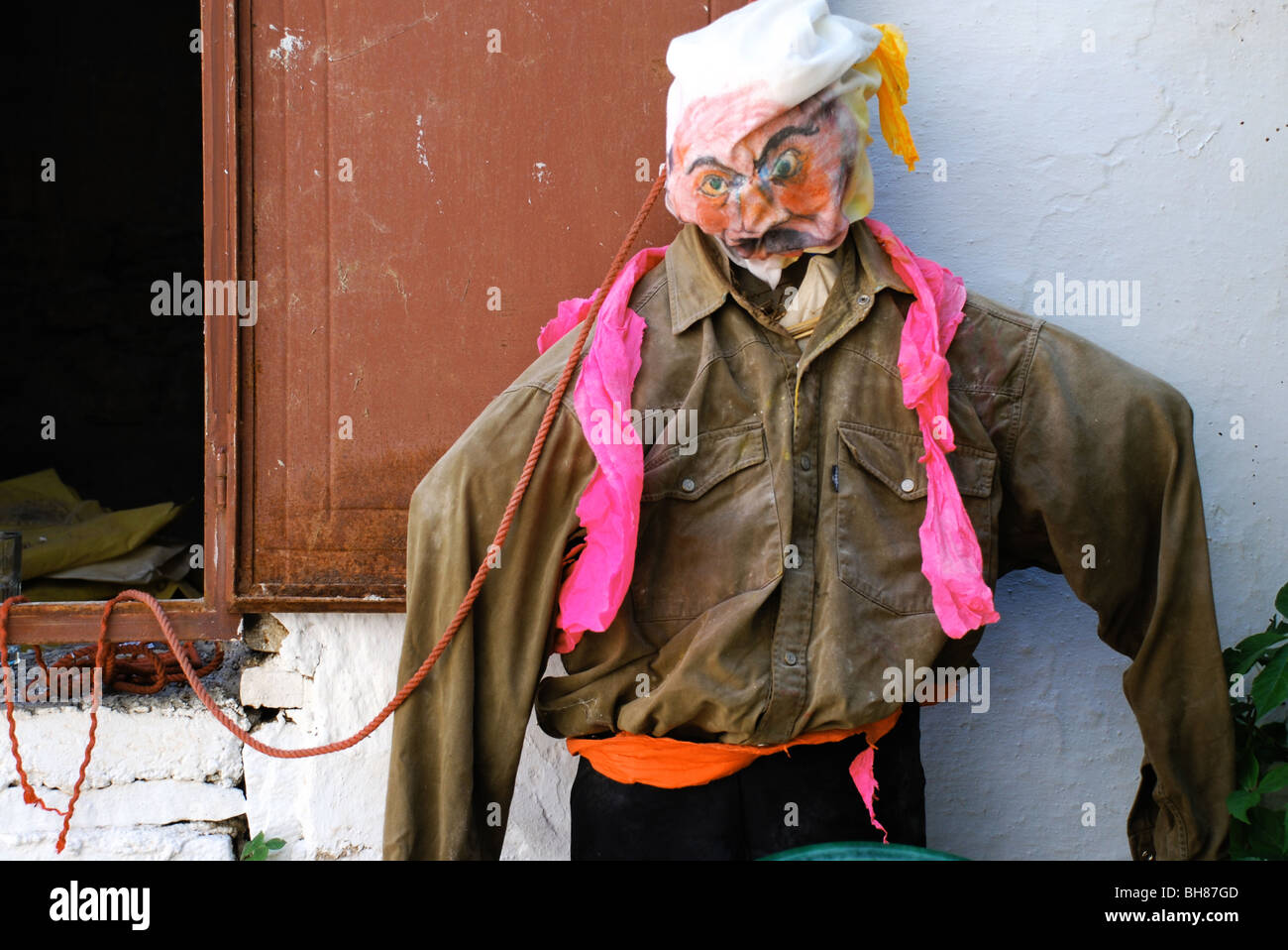effigy of a kadis used in the festival before lent - Stock Image