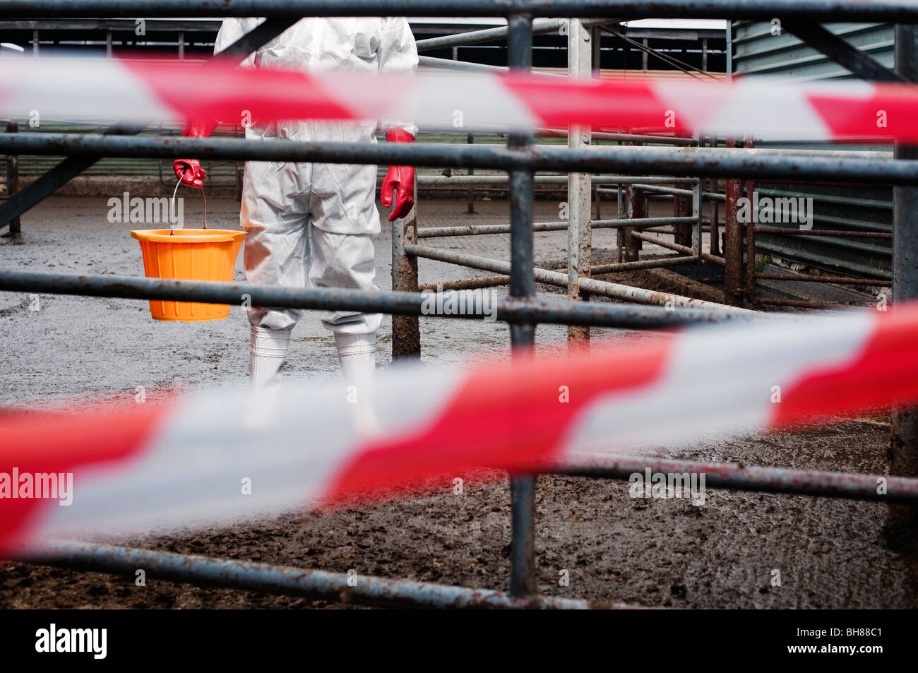 bio hazard on farm - Stock Image