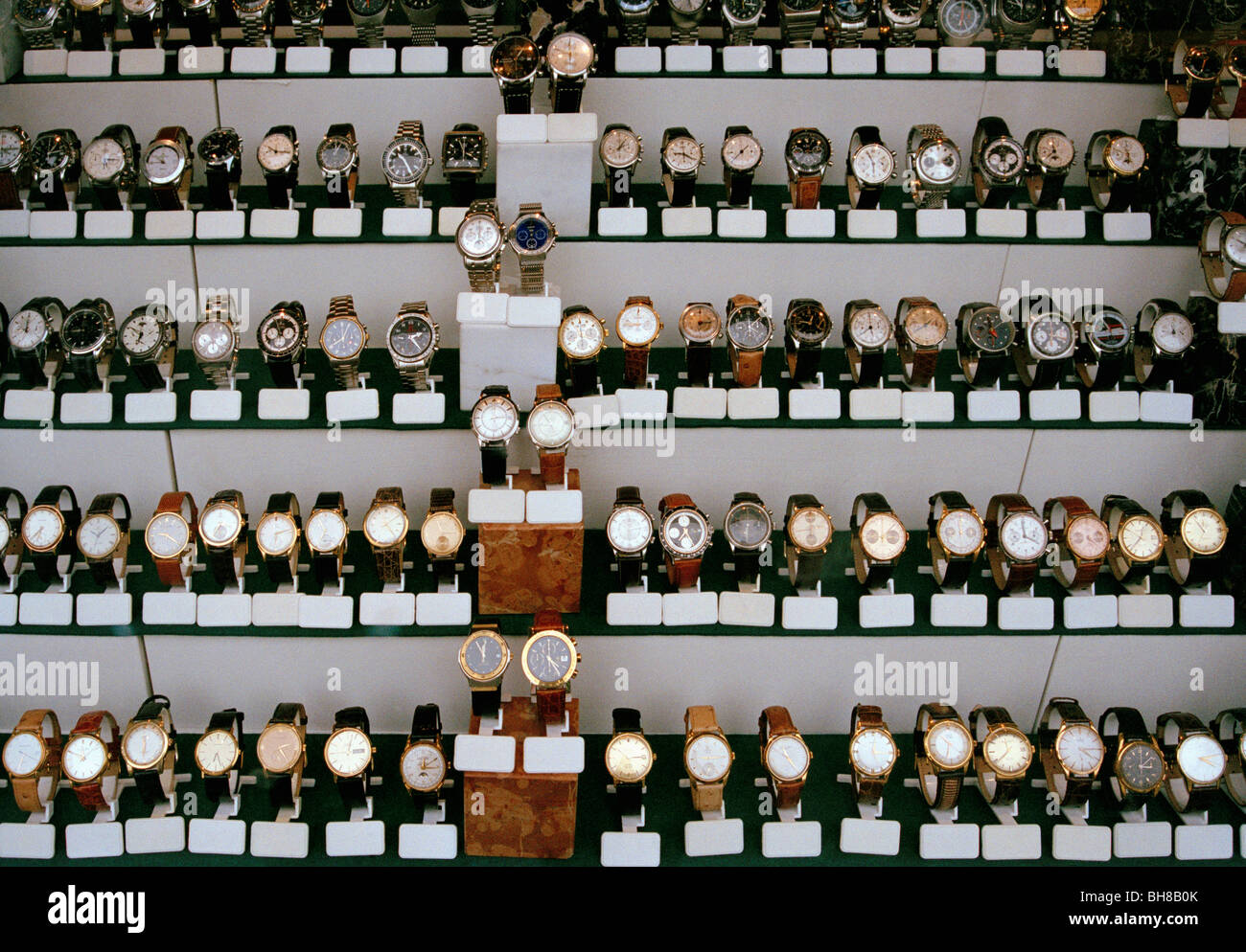 Watches on display - Stock Image
