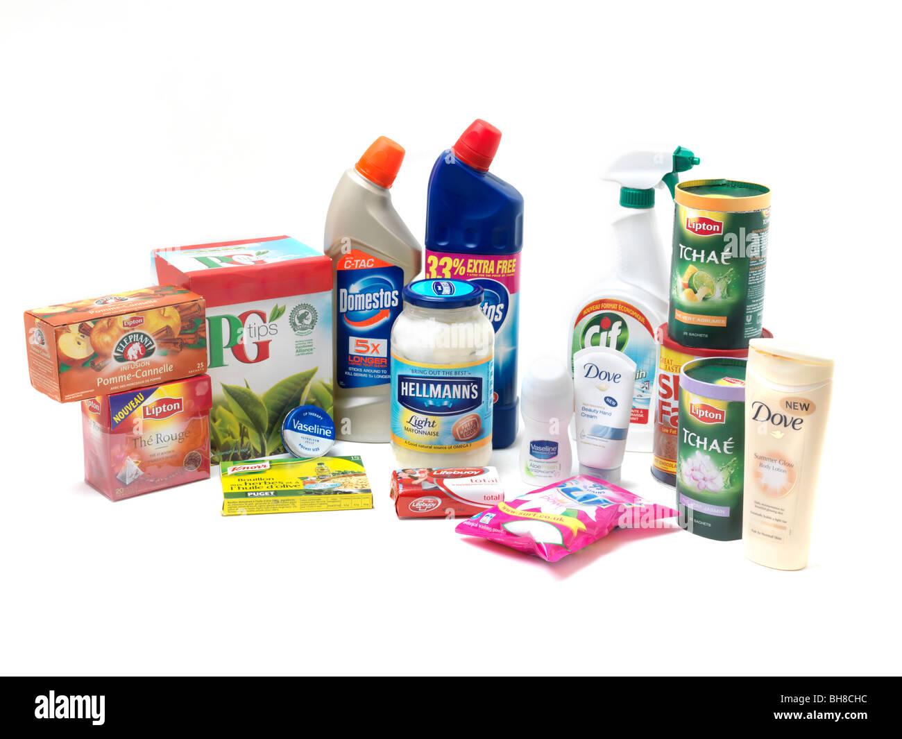 Multi National Company Unilever Products - Stock Image