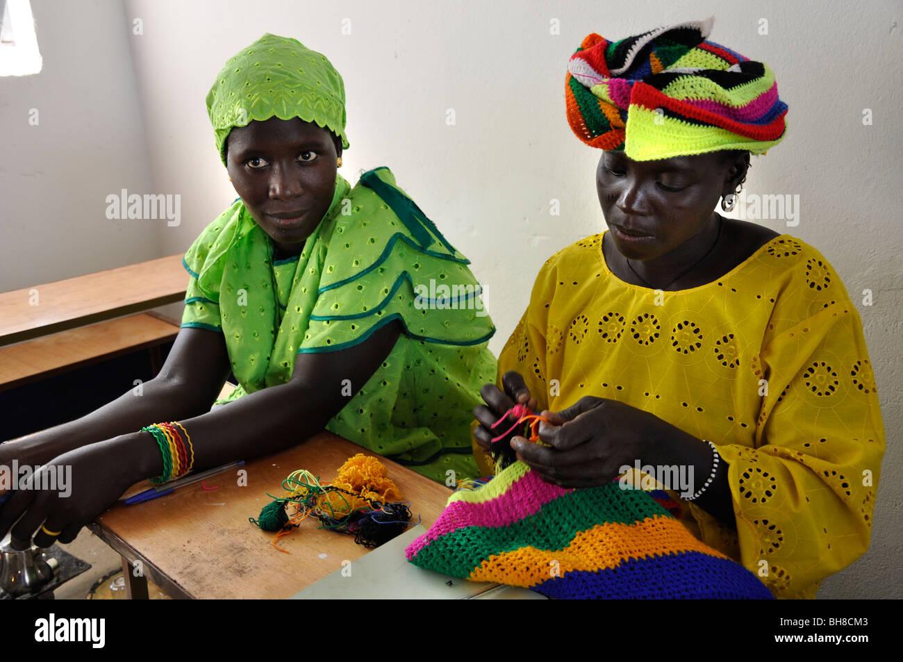 Women hand working, The Gambia - Stock Image