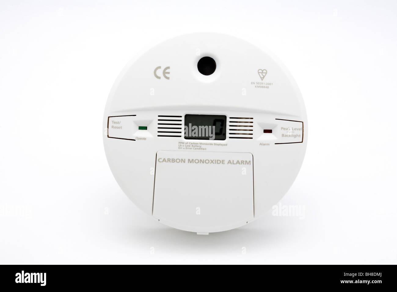 Carbon Monoxide Gas Alarm Battery Powered - Stock Image