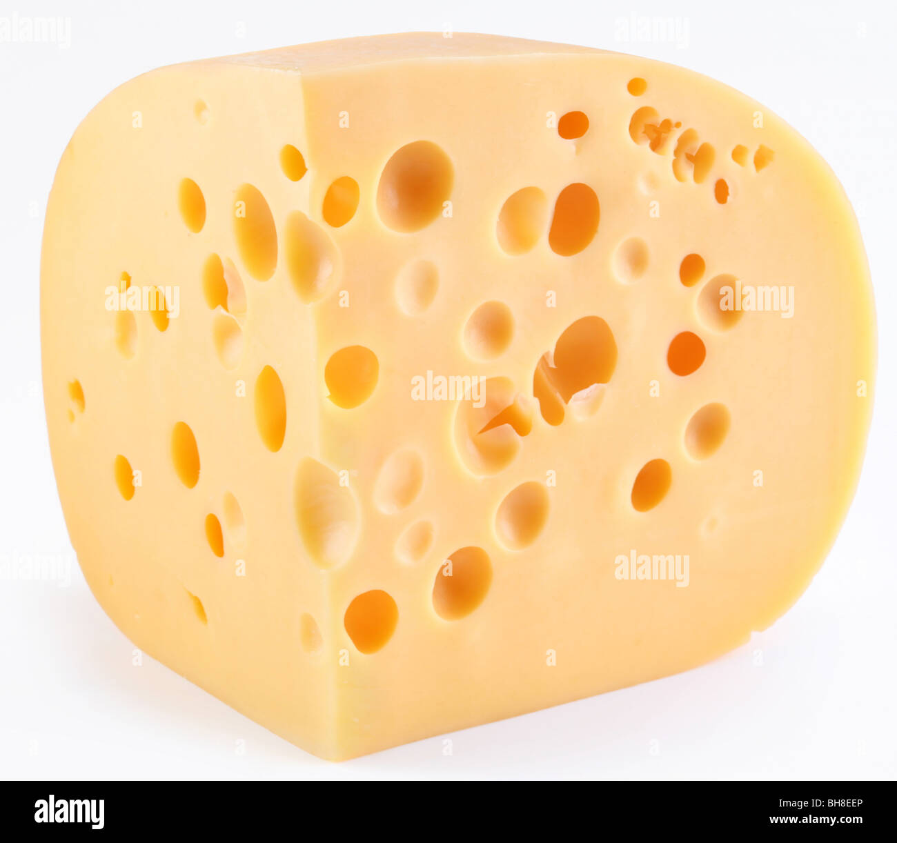 Dutch cheese on a white background - Stock Image