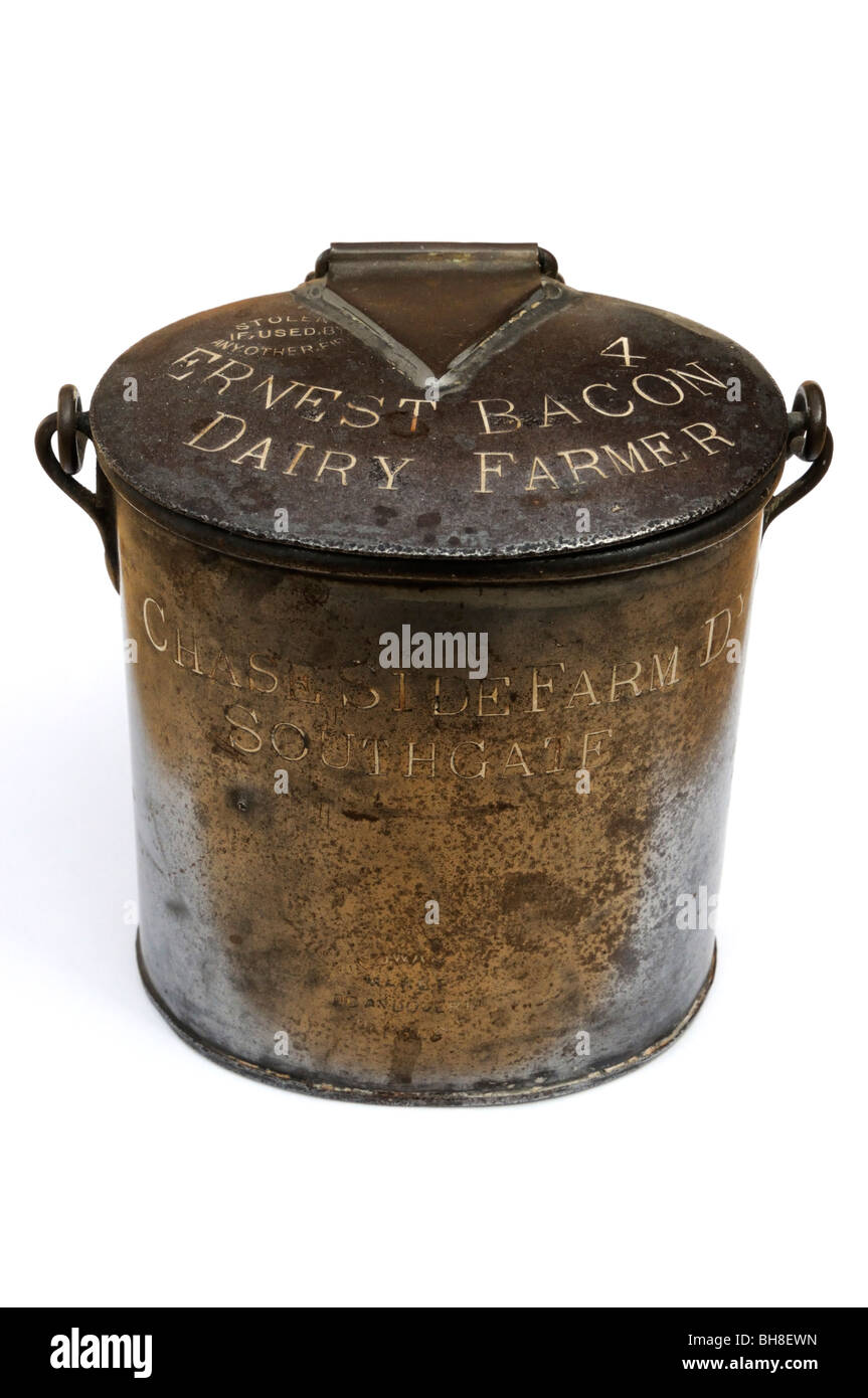 Antique milk can - Stock Image