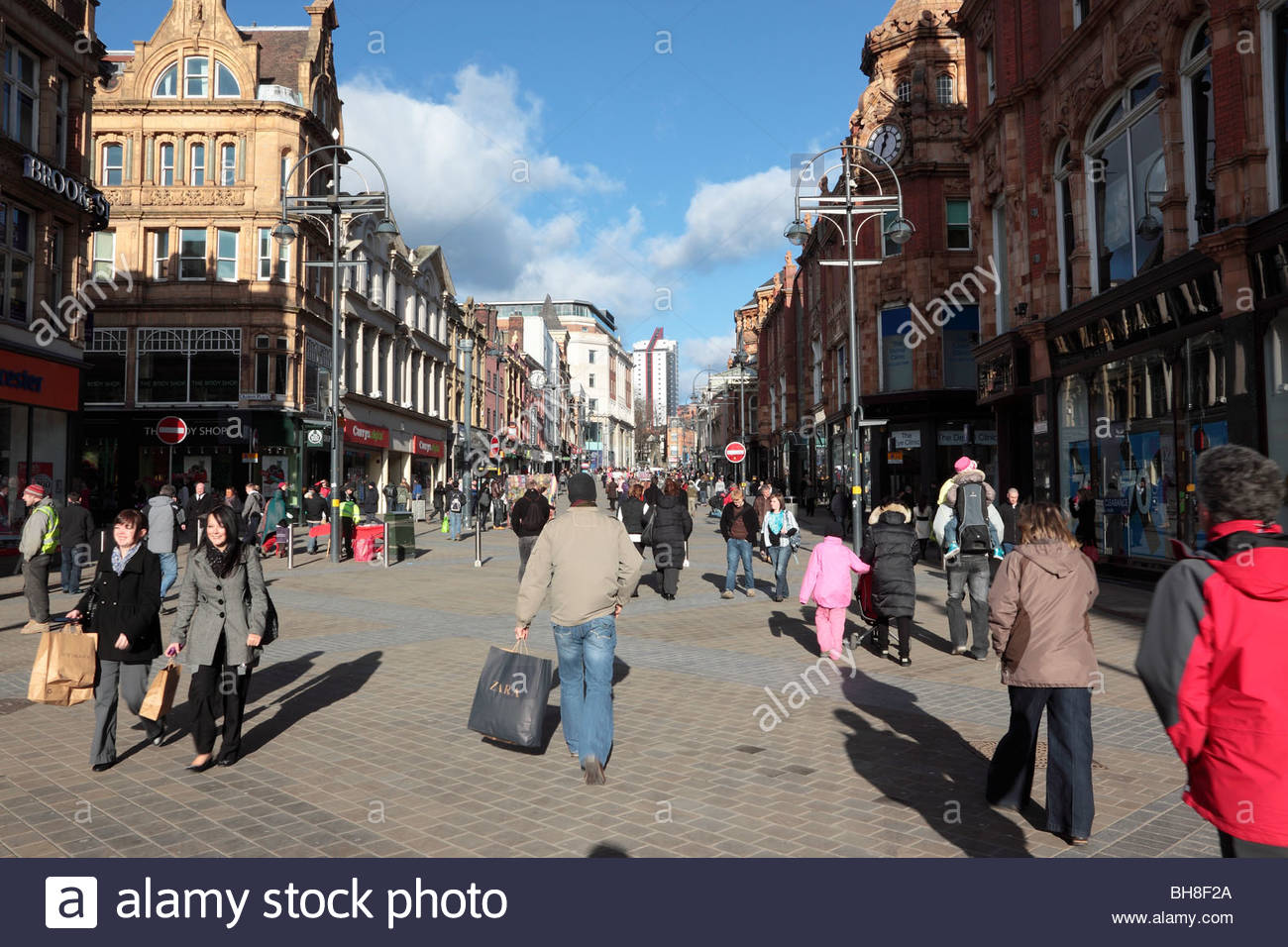 Briggate Leeds West Yorkshire England - Stock Image
