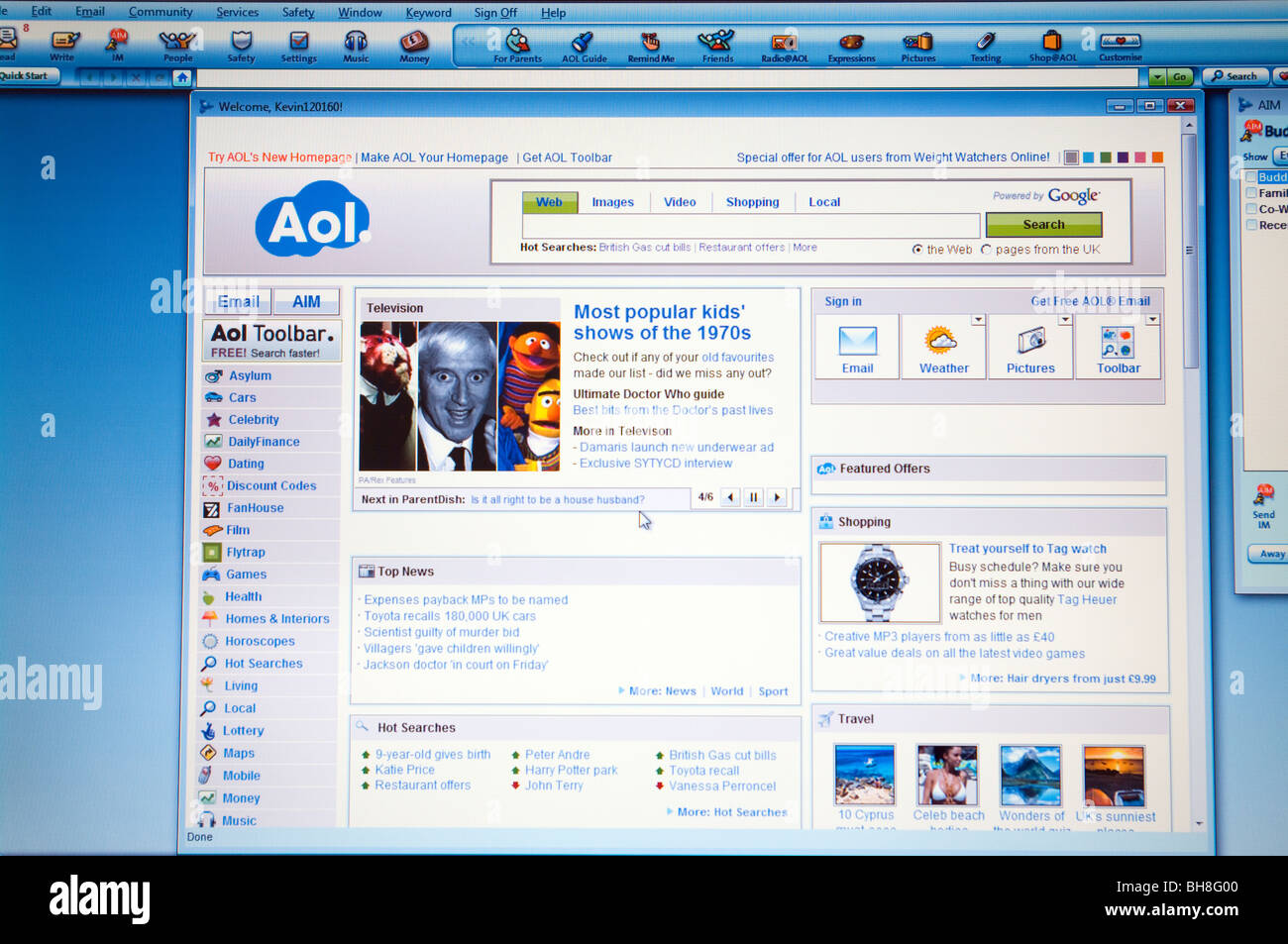 AOL Browser - Stock Image