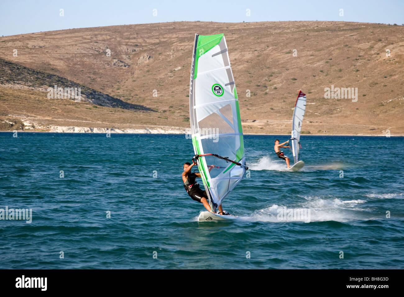 Wind surfers - Stock Image