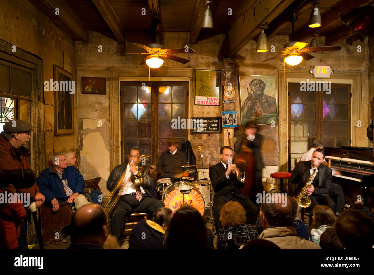 Preservation Hall Jazz Band, French Quarter, New Orleans, Louisiana - Stock Image