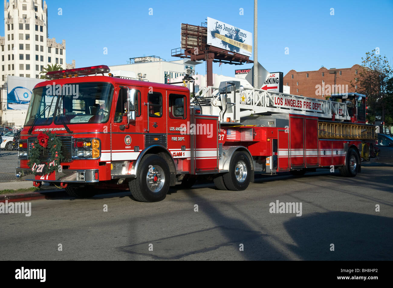Parked fire truck stock photos parked fire truck stock images alamy parked fire truck los angeles fire department hollywood los angeles california freerunsca Choice Image