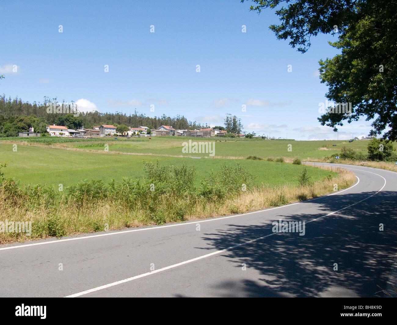 Camino de Santiago, road to Finisterre - Stock Image