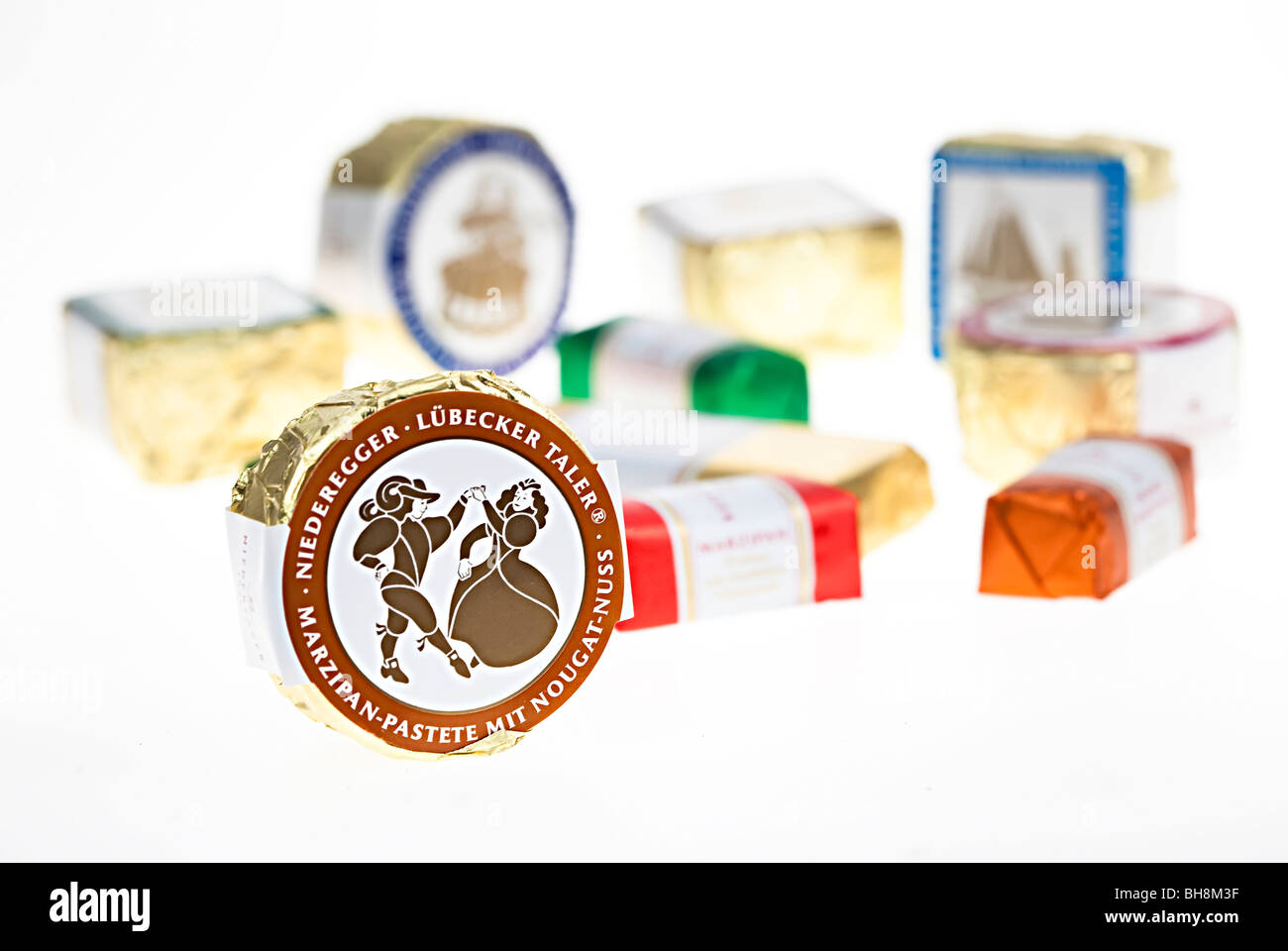 Niederegger marzipan from Lubeck Germany - Stock Image