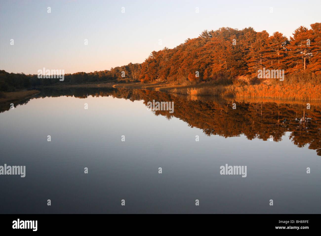 Big Sable River at Ludington State Park - Stock Image