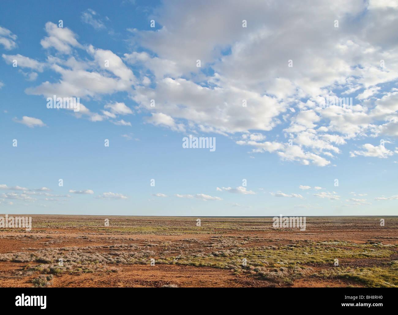 middle of nowhere australian desert near alice springs - Stock Image
