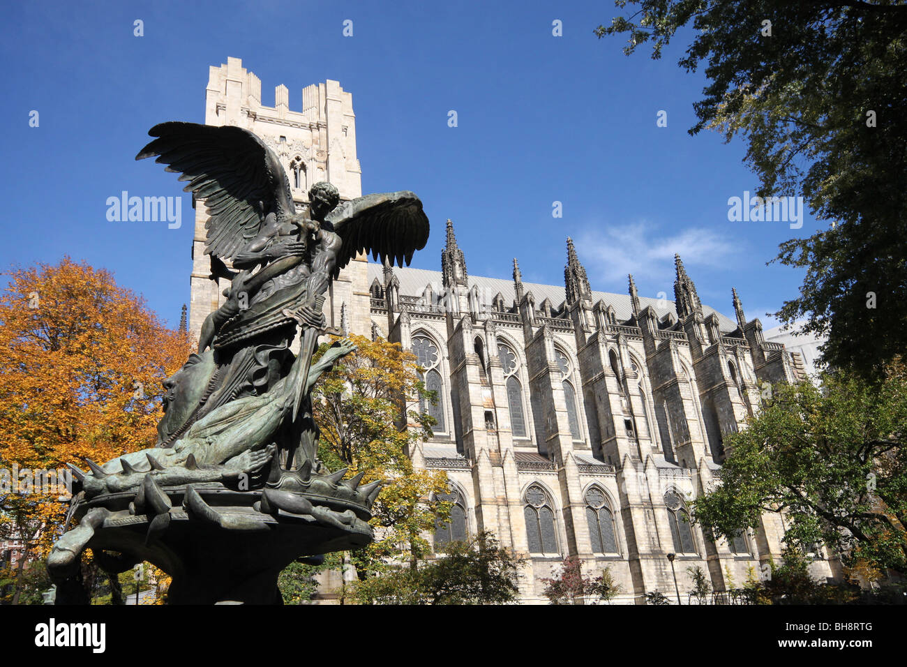 Manhattan's Cathedral of St. John the Divine - Stock Image