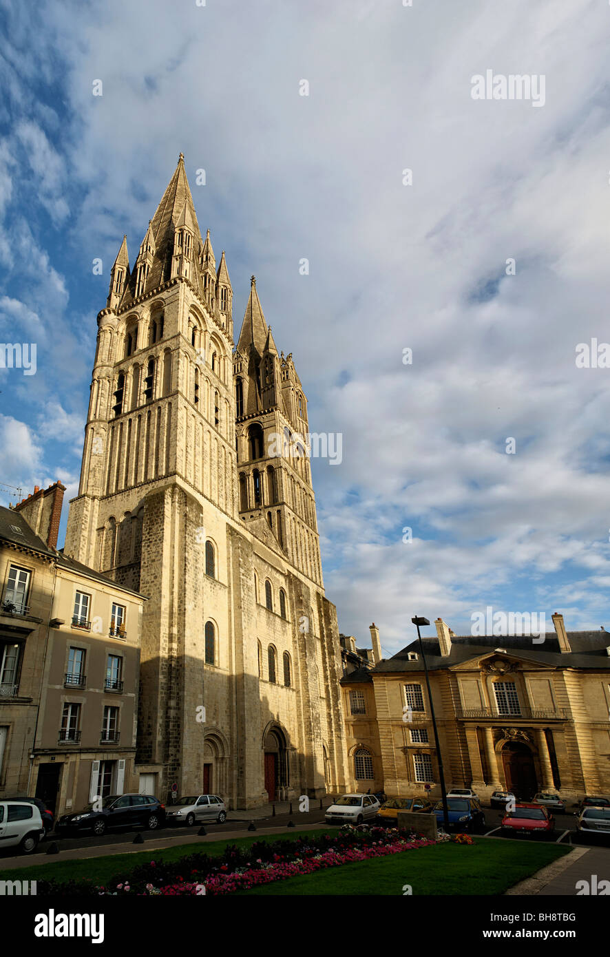 St Etienne Abbey in the city of Caen - Stock Image