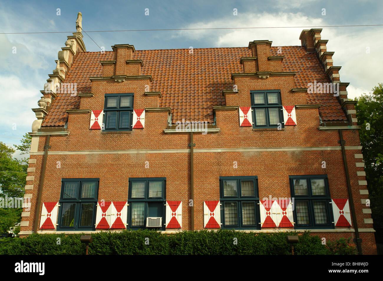 AJD64042, Lewes, DE, Delaware, Zwaanendael Museum, Dutch Renaissance Building - Stock Image