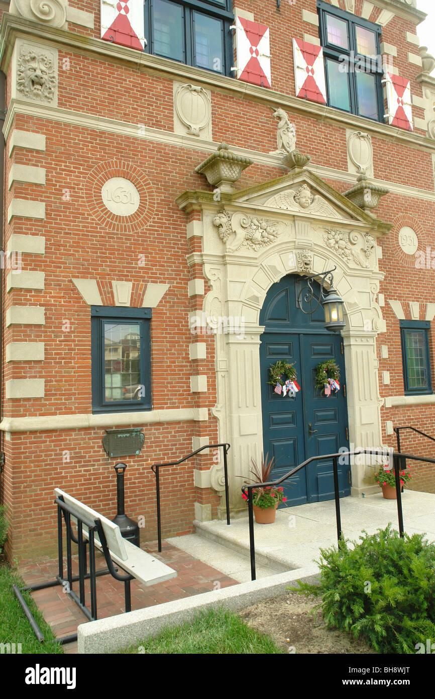 AJD64047, Lewes, DE, Delaware, Zwaanendael Museum, Dutch Renaissance Building - Stock Image