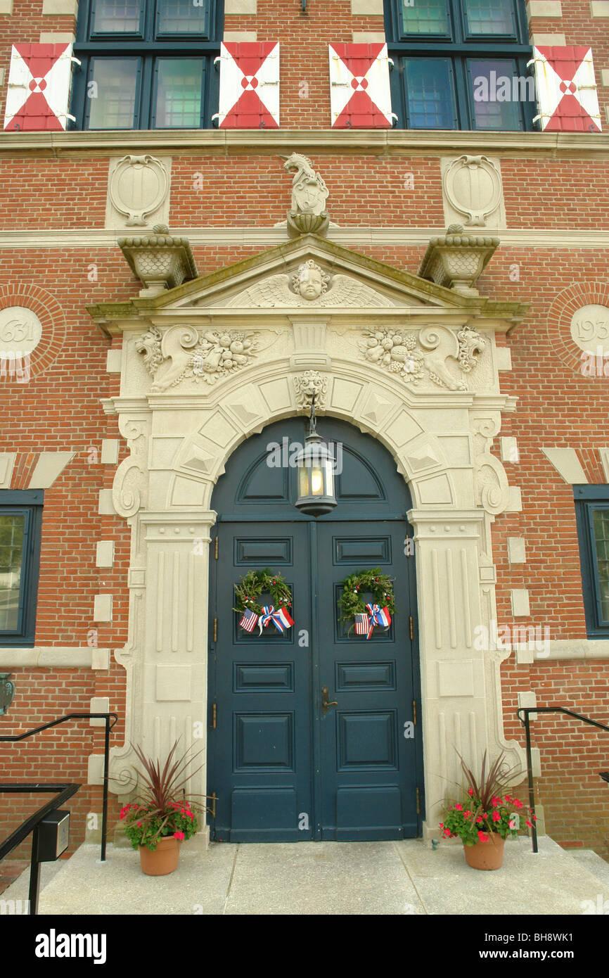 AJD64048, Lewes, DE, Delaware, Zwaanendael Museum, Dutch Renaissance Building - Stock Image