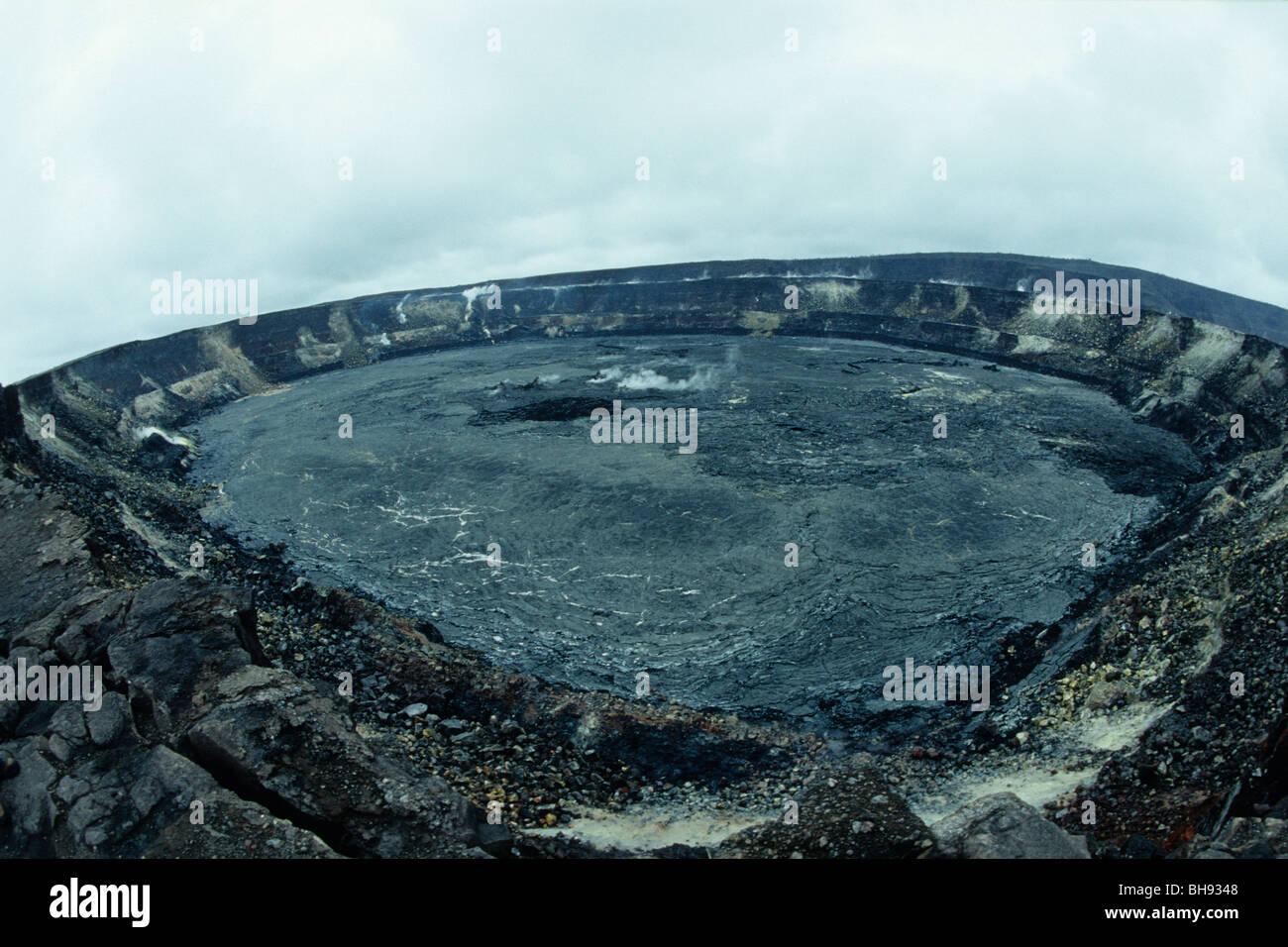 Caldera of Kilauea Volcano, Kona, Big Island, Hawaii, USA - Stock Image