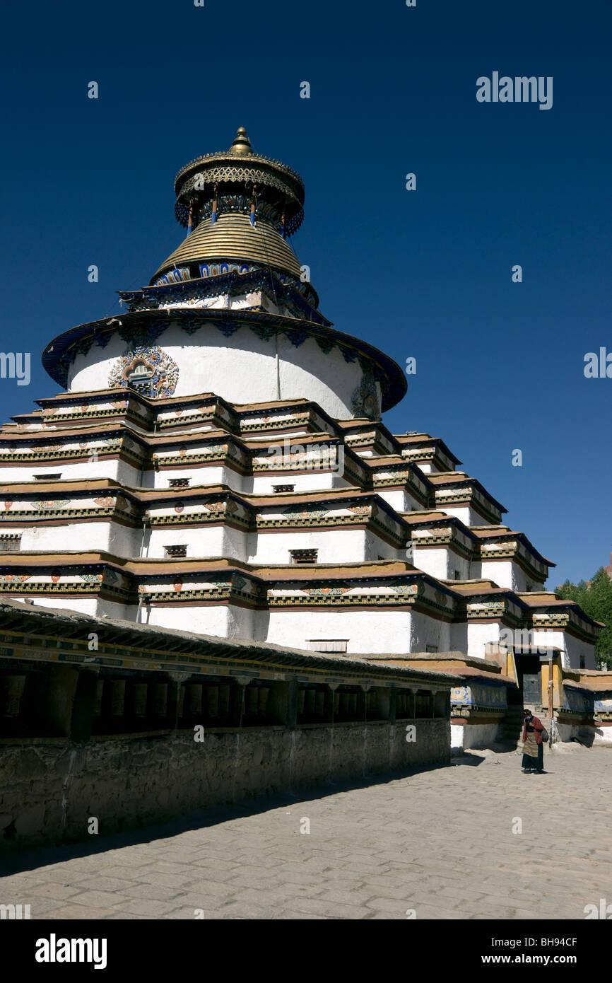 the gyantse kumbum stupa in tibet - Stock Image