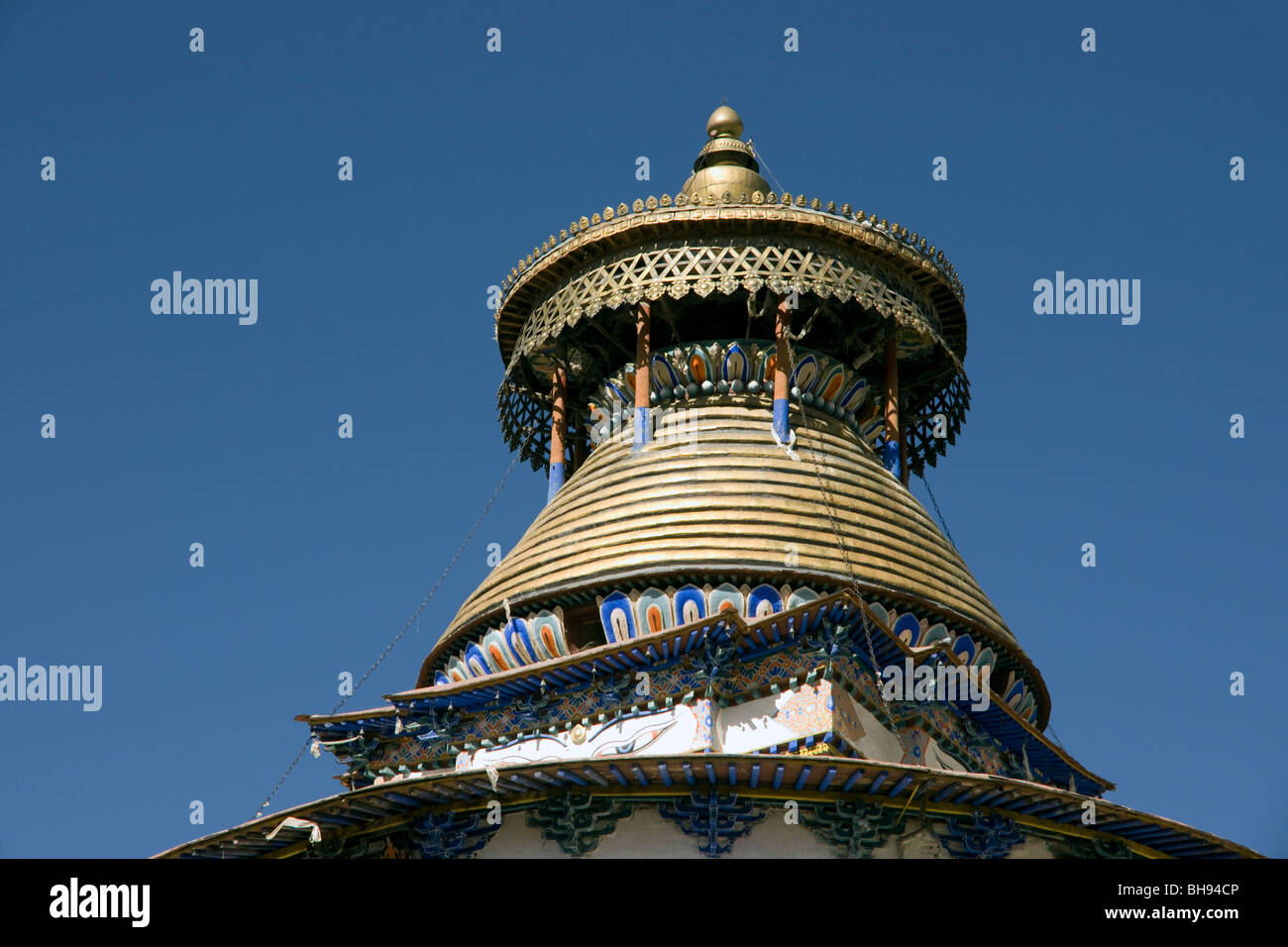 the gyantse kumbum stupa tibet - Stock Image